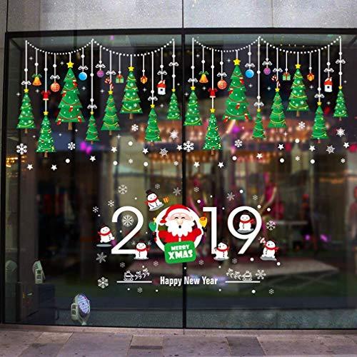 AG Moderne Einfachheit Wandaufkleber, Weihnachten farbige Kugel Weihnachtsbaum Wandtattoos Schlafzimmer Wohnzimmer abnehmbare Moderne Dekor Art Decal