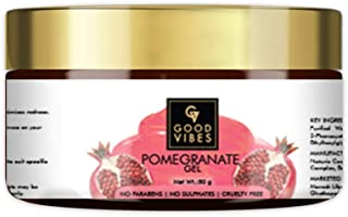Good Vibes Pomegranate Gel - 50 g - Skin Firming and Anti-Ageing Formula - Dandruff and Hairfall Treatment - Promotes Hair...