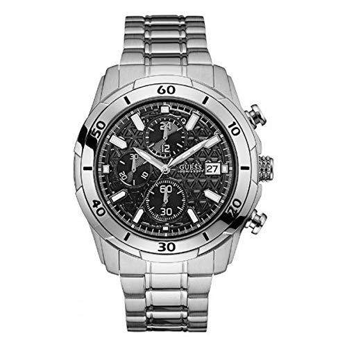 Guess Reloj Analog-Digital para Mens de Automatic con Correa en Cloth S0322244