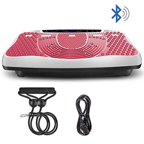 DZKU Vibrationsplatte Testsieger 3D Vibrationsgeräte, Ganzkörpertraining Vibration Fitness Plattform,Heimtrainingsgeräte für Weight Loss, Fernbedienung & Balance Straps Enthalten, Pink