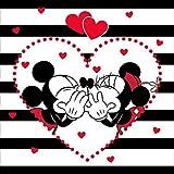 Disney Minnie Love Mickey Maus Kissenbezug Kissenhülle 40x40cm