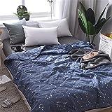 Fansu Tagesdecke Bettüberwurf Steppdecke Mikrofaser Doppelbett Einselbetten Gesteppt Bettwäsche Sofaüberwurf Wohndecke Bettdecke Stepp Gesteppter Quilt (Konstellation,150x200cm)