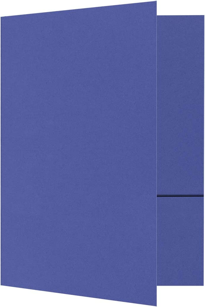 9 x 12 Presentation Folders Sales of SALE items from new works in Max 54% OFF 100 lb. Boardwalk Blue Poc 2 with