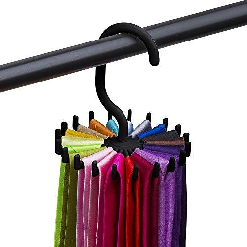 Zhen+ Krawattenklammer Drehbar Tie Clips für kleiderschrank, Praktisch Stabil Rutschfester Krawatten Aufbewahrung/Schlipsbügel/Schlipshalter, Krawattenhalter 20 Krawatten Hangerworld für Herren