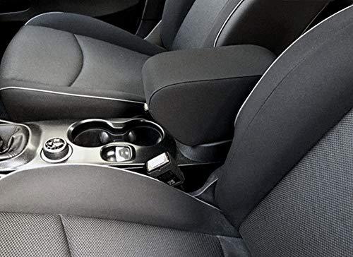 Drive Design Bracciolo per 500X Tessuto Nero Regolabile in Lunghezza Armrest mittelarmlehne appoggiabraccio 500 x