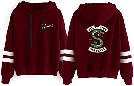 OOHPA Riverdale Southside Serpents Hoodie -Cotton Fabric Long Sleeve Sweatshirt Unisex Pullover