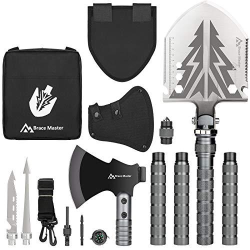 Brace Master Camping Schaufel , Klappspaten Multifunktional Survival Schaufel Spaten Einfach Tragbar Wird FüR Camping, Wandern, NotfäLle Usw. Verwendet.
