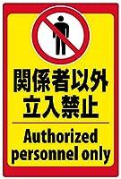 立入禁止(英語入り) 金属板ブリキ看板警告サイン注意サイン表示パネル情報サイン金属安全サイン