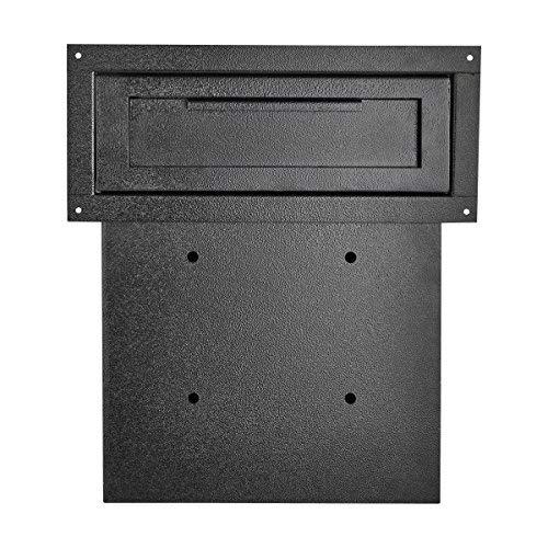 AdirOffice AdirOffice Door Drop Box - Through-The-Door Safe Locking Drop Box - Door Mail Slot (Black) Photo #5