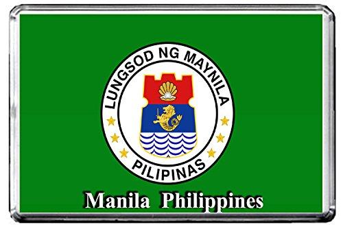 A076 MANILA FLAG FRIDGE MAGNET CITY OF PHILIPPINES MAGNETICA CALAMITA FRIGO