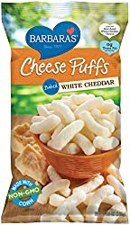 Barbara's Bakery Cheese Puffs, Baked White Cheddar, 5.5 Oz Bag