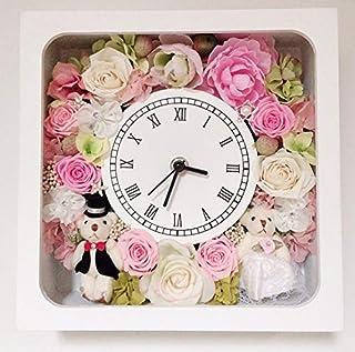 【ギフト&インテリア】花時計34【プリザーブドフラワー・結婚祝い・記念日・フラワー時計・フラワークロック】