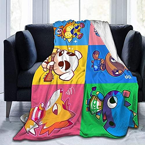 MOSHUO Manta de Franela, Manta Suave de Juego de Cruce de Animales para Cama, sofá, sillón, Mantas mullidas para niños y Adultos