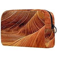 抽象的な木目 化粧ポーチ メイクポーチ ミニ ポーチ おしゃれ コスメポーチ 機能的 大容量 小物入れ 軽量 出張 旅行 化粧バッグ ポーチ レディース