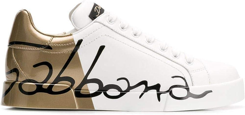 Luxury fashion dolce & gabbana, scarpe sneakers da donna, in vera pelle CK1600AI053HH821