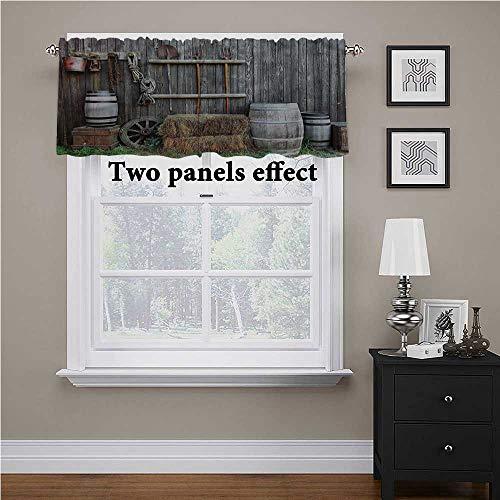 Adorise - Cenefa para ventana, diseño de granero de madera