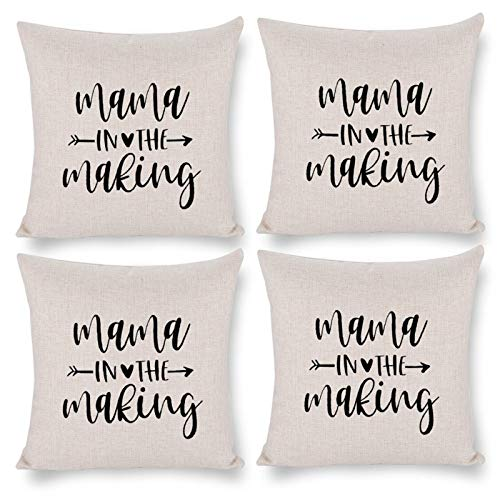 Throw Pillow Covers Cases Decorative Throw Pillow Case Cushion Cover Square 18'X18'Mama in The Making Mommy in The Making Pregnancy