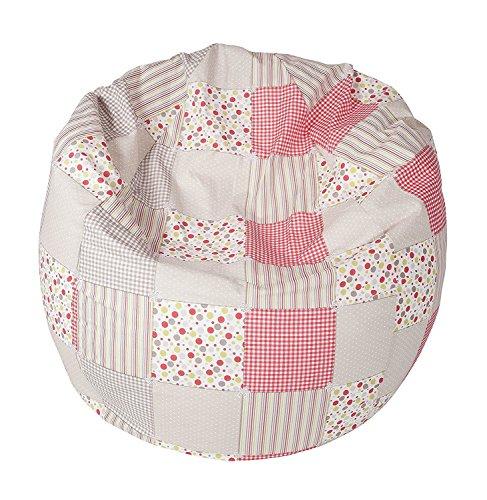 Joyfill Sitzsack mit Bezug, Stuhl für Kinder und Erwachsene, Weicher Stoff, 240L groß - 585 Patch