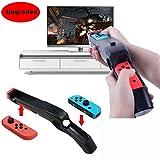 Vicstar Game Gun Compatible con Nintendo Switch para Wii Remote Juegos de Tiro Deportivo como Wolfenstein II, The Colossus, Big Buck Hunter Bundle, etc.