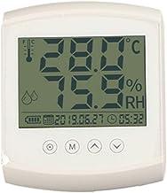 NA YAJJA Laboratorio Cubierta Termómetro Inicio termómetro preciso Impermeable Temperatura húmeda y Cuarto for Tender la Noche la luz del medidor electrónico