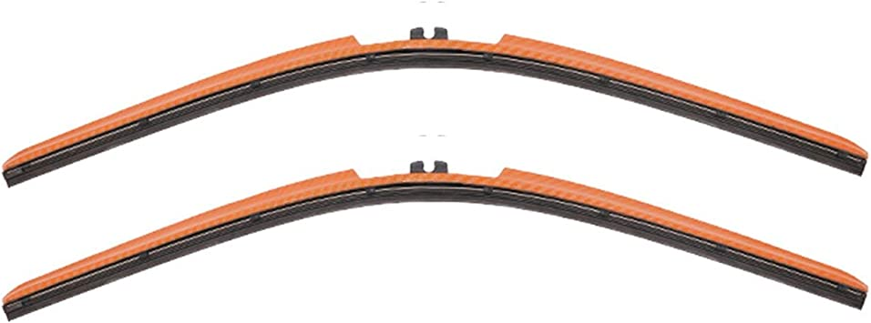 Clix Wipers - Orange Wiper Blades for Jeep Wrangler - All-Weather Replacement Windshield-Wipers for All Wrangler/Unlimited Models (1996-2017) - Set of 2 Blades: image