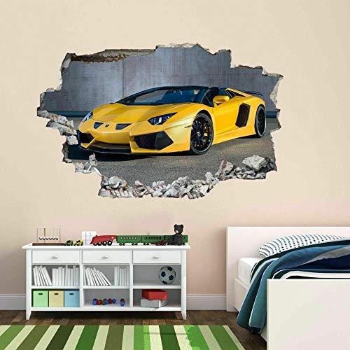 Pegatinas de pared etiqueta de la pared del coche de los deportes etiqueta engomada del arte de la pared mural decal autoadhesivo de impresión de vinilo 80 * 120CM