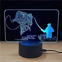 ノベルティ3DLedフットボールスカルランプベッドサイドスリープナイトライト子供用USBテーブルランプ男の子の装飾ギフトランプ
