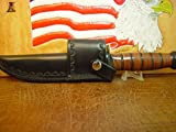 KA-BAR Full Size US Marine Corp Fighting Knife crossdraw BLACK Sheath. Knife NOT included.
