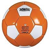 Tachikara SM4SC dual colored soft PU soccer ball, size 4 (orange/white).