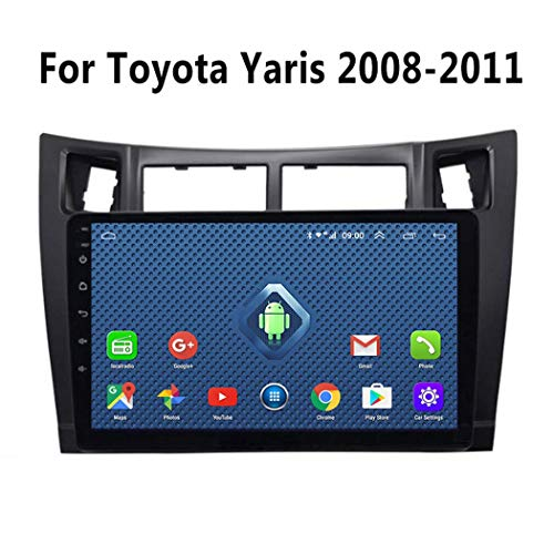 GPS-Navigation, 9 Zoll Android 8.1 Autoradio Video Multimedia Player für Toyota Yaris 2008-2011 Mit HD-Bildschirm, Play Store, WiFi,4g+WiFi 2g+32g
