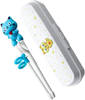 TOYANDONA Blue Children Training Chopsticks Easy to Use Learning Chopsticks Reusable Chinese Chopstick Studying Aid Tool f...