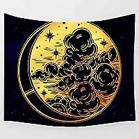 HYTGD-多機能壁掛け太陽と月のタペストリー黒と白のアート壁掛けタペストリーリビングルームの家の寮の装飾