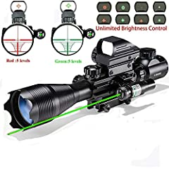 Rifle scope advantage:High grade fully coated optical lens, Dry nitrogen filled with waterproof,shock proof,fog proof. Magnification:4x-16x suit for any W/ 22mm Rail Mount Picatinny Rail,Made of Aluminium with High grade fully coated optical lens,120...