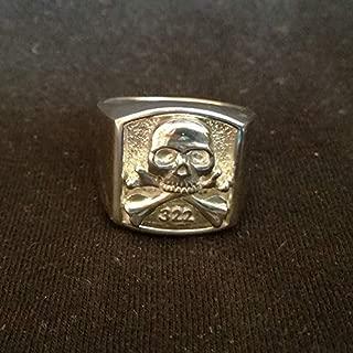 SKULL AND BONES 322 RING - 322 SKULL AND BONES YALE RING | Lodge Ring | Vintage Masonic Ring | Freemason Fraternity Ring | Sterling Silver 925, Yellow, White Gold | Handmade | Any Sizes