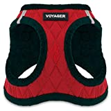 Voyager Step-In Plush Dog Harness - Soft Plush, Step in Vest Harness for Small & Medium Dogs by Best Pet Supplies, Inc., Inc. - Red Plush, X-Small (Chest: 13' - 14.5')