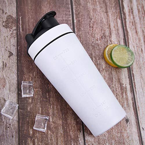 Jusemoa - Botella de agua de acero inoxidable para deportes al aire libre de una sola capa, 960 ml-blanco_960 ml