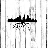 Minneapolis Minnesota Wall Decals Decor - USA City State Roots Rooted Art Stickers Decorations - Vinyl Pictures for Office Studio Shop Home Kids Room Bedroom Door Window RT164