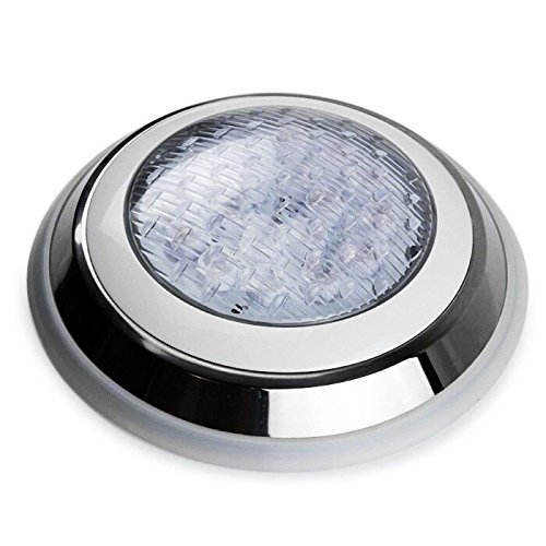 Tunez Swimming Pool Light Underwater 45W IP68 RGB 7 Colours Mounted Flat Surface Low Voltage 12V AC with Remote Control Free 2-pins Connector