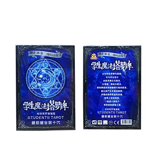 Huluda Clássico Rider-Waite Tarot Student Magic Poker Cards Tabuleiro Tarô Adivinhação Tarô