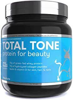 Sponsored Ad - Dioxyme Total Tone Whey & Collagen+ Blend | Plus Biotin & Vitamin D | 22 Grams of Protein, Tone Lean Muscle...
