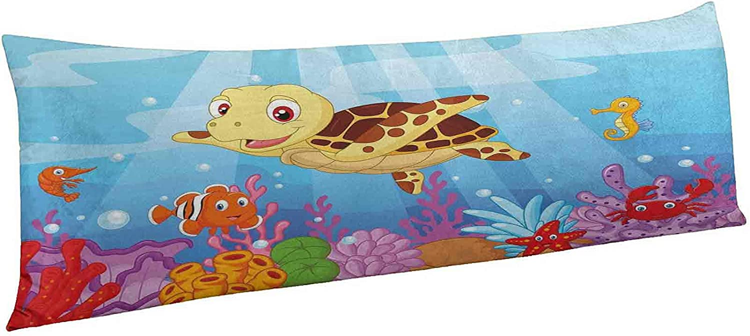 67% OFF of fixed price Turtle Body Pillow Cover with San Antonio Mall Sty Cartoon Funny Zipper Adorable