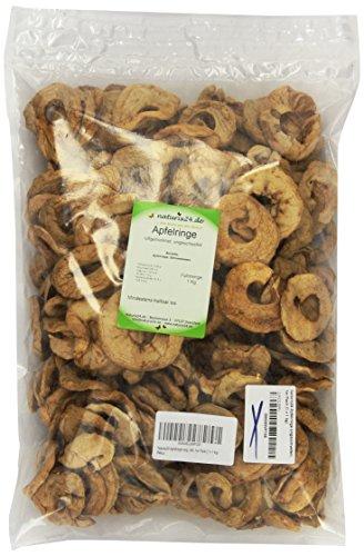 Naturix24 Apfelringe ungeschwefelt, 1er Pack (1 x 1 kg)