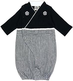 ベビー 新生児 ベビー服 ツーウェイオール 兼用ドレス セレモニードレス 袴風 男の子 カバーオール 黒 50-70 30670506BK5070