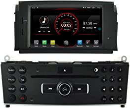 Autosion in Dash Android 9.1 Car DVD Player Radio Head Unit GPS Navi Stereo for Mercedes Benz C Class W204 2007 2008 2009 2010 2011 Mercedes Benz C Class C180 C200 C220 Support Steering Wheel Control