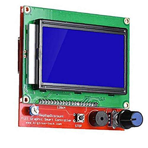 Odoukey Pannello di Controllo della Stampante 3D 12864 LCD Smart Display per 3D Stampante Smart Controller con Cavo Adattatore Adatta a R/A/M/P/S 1.4 Lpl Verde