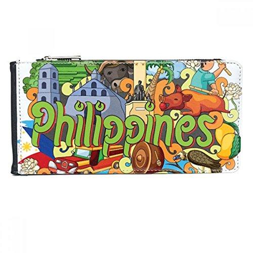 Camiguen Mango Philippine Graffiti Multi-Card Faux Lederen Rechthoek Portemonnee Kaartportemonnee Gift