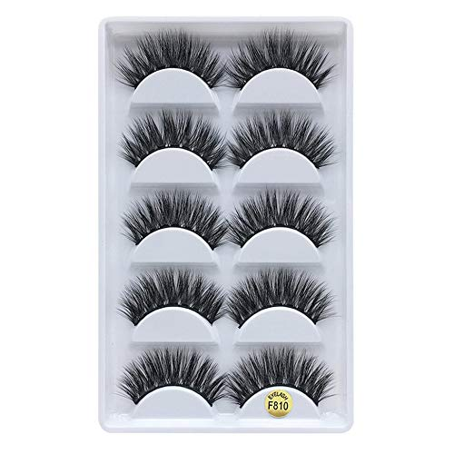 3D Mink Hair False Eyelashes Natural Long False Eyelash Thick Eyelashes 5 Pairs Beauty Products