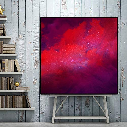 N / A RELIABLI Poster Canvas Painting Abstract Print Red Cloud Wall Pictures For Living Room Wall Art Prints Quadro Home Decor Unframe 30x30cm Sin Marco
