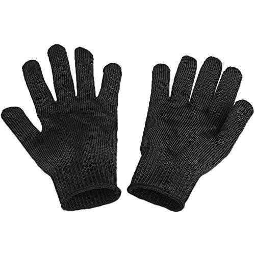 Migimi Schneidfeste Handschuhe Edelstahl-Drahtgitterhandschuhe Sicherheitsarbeitshandschuhe Schneidhandschuhe Widerstandsgeschützte Schnittschutzhandschuhe 1 Paar