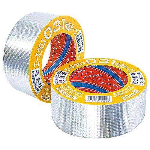 光洋化学 気密防水テープ エースクロス アクリル系強力粘着 片面テープ 剥離紙付 031 アルミ 75mm×20M